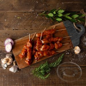 Smoky BBQ Chicken Kebabs